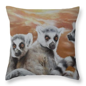 Who What Where Throw Pillow by Cherise Foster