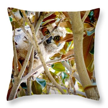 Whooo Are You? Throw Pillow