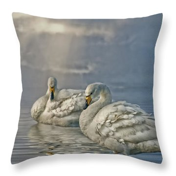 Throw Pillow featuring the photograph Whoopers by Brian Tarr