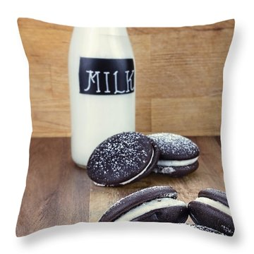 Whoopie Pies Or Moon Pies And Milk Throw Pillow