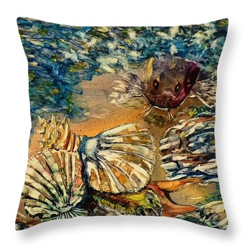 Who's Got The Pearl? Throw Pillow