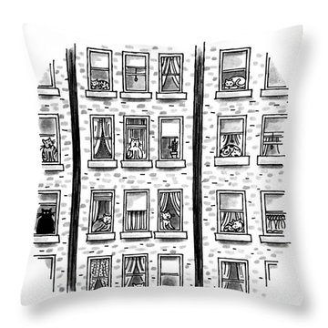 Who's Really Running The City Throw Pillow