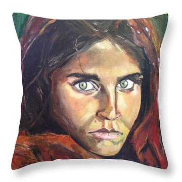 Who's That Girl? Throw Pillow