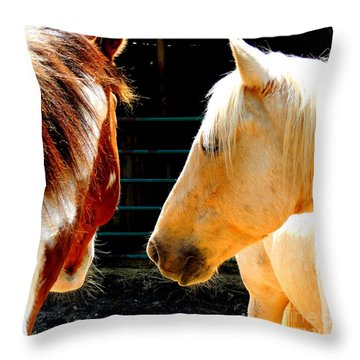 Whose Here Throw Pillow