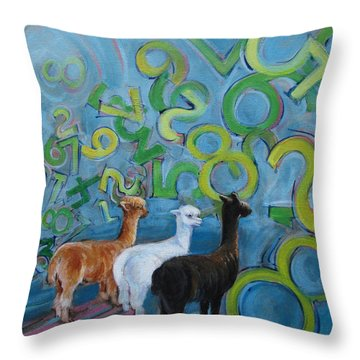 Why All The Confusion? Throw Pillow