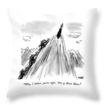 Why, I Believe You're Right.  This Is Mont Blanc Throw Pillow