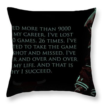 Why I Succeed Throw Pillow by Brian Reaves
