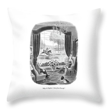Why, It's Daphne - Home From Foxcroft Throw Pillow