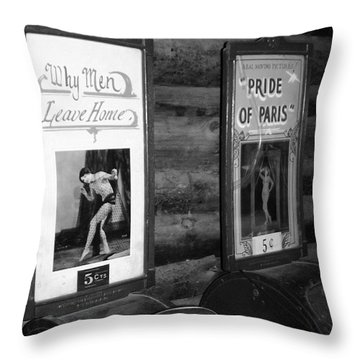 Why Men Leave Home Throw Pillow by Thomas Woolworth