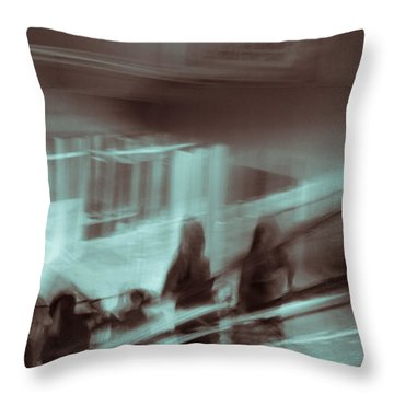 Throw Pillow featuring the photograph Why Walk When You Can Ride by Alex Lapidus