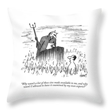 Why Wasn't A List Of These Sins Made Available Throw Pillow