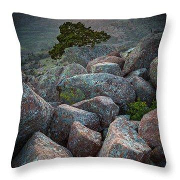 Wichita Mountains Throw Pillow by Inge Johnsson