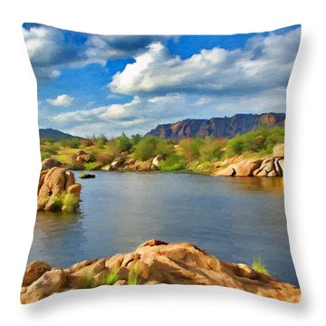 Wichita Mountains Throw Pillow by Jeffrey Kolker
