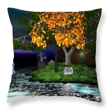 Wicked In The Darkest Hours Of Night Throw Pillow