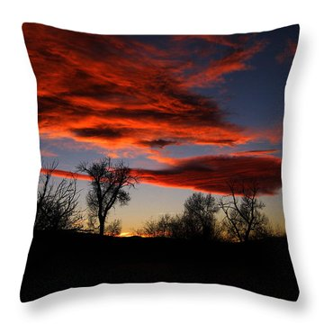 Throw Pillow featuring the photograph Wicked Skies by Janice Westerberg