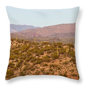Wickenburg Mountains Throw Pillow by Suzanne Oesterling