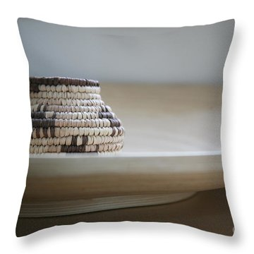 Wicker On Wood Throw Pillow by Lynn England