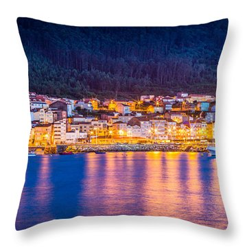 Wide Harbour View Throw Pillow