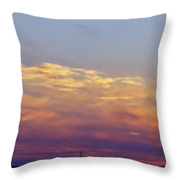 Wide Sunset Panorama Throw Pillow