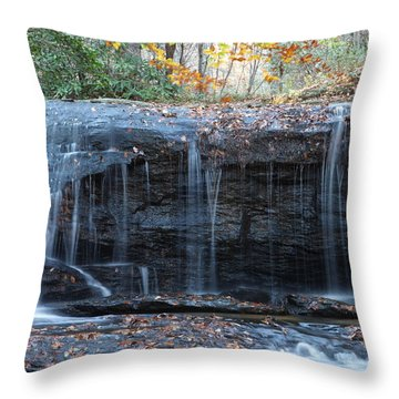 Wide Waterfall Throw Pillow by Rod Flasch