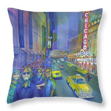 Widespread Panic Chicago  Throw Pillow