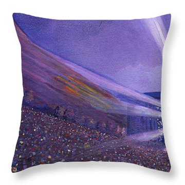 Widespread Panic Redrocks Lighting Throw Pillow by David Sockrider