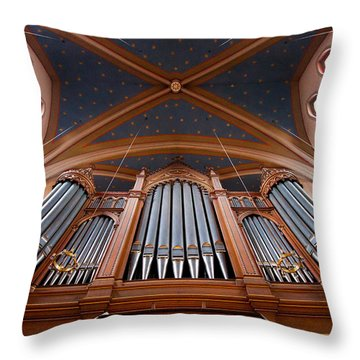 Wiesbaden Marktkirche Organ Throw Pillow
