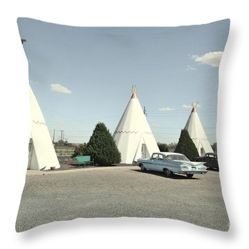 Wigwams In Arizona Throw Pillow