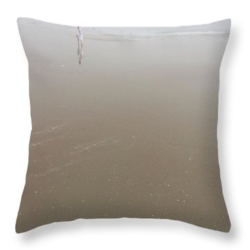 Throw Pillow featuring the photograph Wilbur By The Sea 3 by Lisa Piper