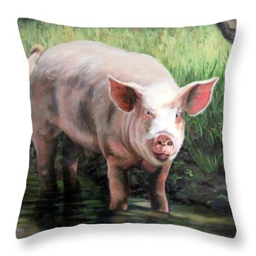 Wilbur In His Woods Throw Pillow