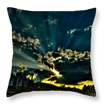 Wild Abandonment Throw Pillow by Christy Ricafrente