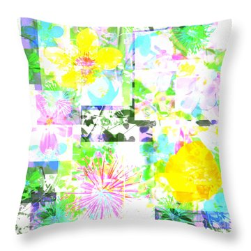 Wild About Flowers Throw Pillow by Barbara Moignard