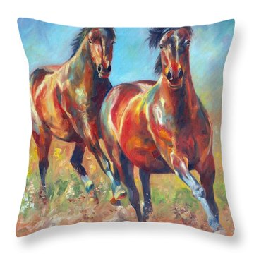 Wild And Free Throw Pillow by David Stribbling