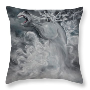 Throw Pillow featuring the painting Wild And Free by Jean Walker