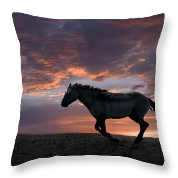 Wild And Free Throw Pillow by Leland D Howard