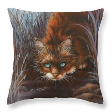 Throw Pillow featuring the painting Wild At Heart by Cynthia House