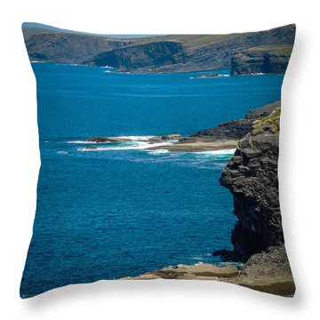 Wild Atlantic Coast Throw Pillow