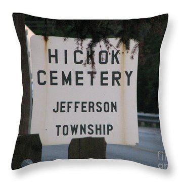 Throw Pillow featuring the photograph Wild Bill Hickok by Michael Krek