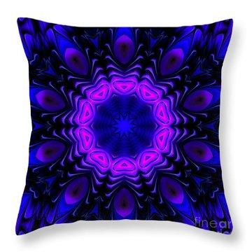 Throw Pillow featuring the digital art Wild Blue by Hanza Turgul