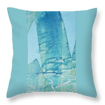 Throw Pillow featuring the painting Wild Blue Waves by Asha Carolyn Young