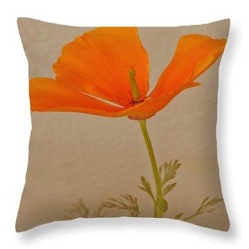 Wild California Poppy No 1 Throw Pillow