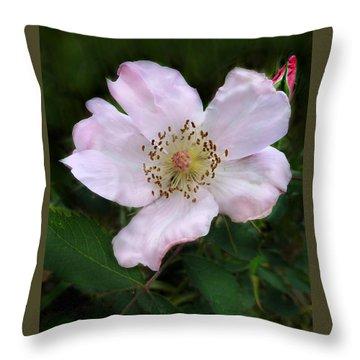 Wild Carolina Rose Throw Pillow