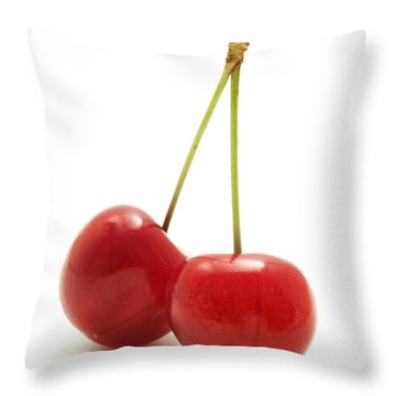 Wild Cherry Throw Pillow