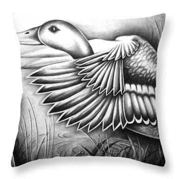 Wild Duck Throw Pillow