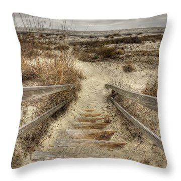 Wild Dunes Beach South Carolina Throw Pillow by Dustin K Ryan
