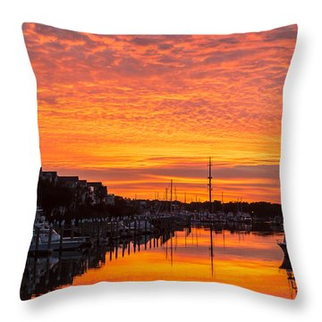Wild Dunes Sunset Isle Of Palms Throw Pillow