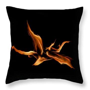 Wild Fire Throw Pillow