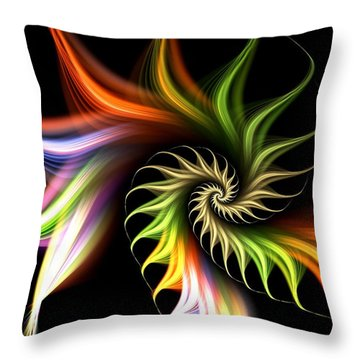 Wild Flower Throw Pillow by Anastasiya Malakhova