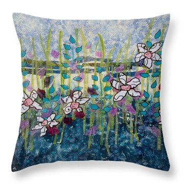 Wild Flowers 4 Throw Pillow