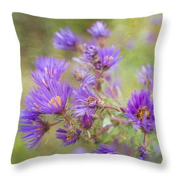 Wild Flowers In The Fall Throw Pillow